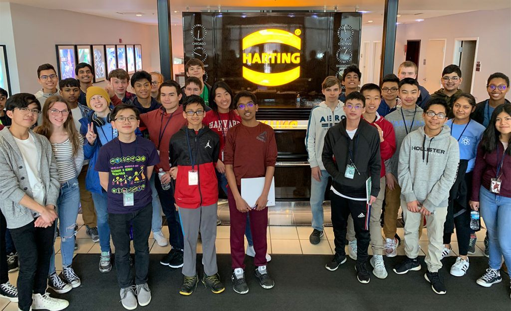 Freshmen students from Bartlet's STEM Academy visit Harting North America in Elgin, IL