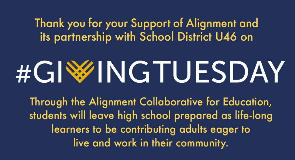 Thank you for your support of Alignment on Giving Tuesday